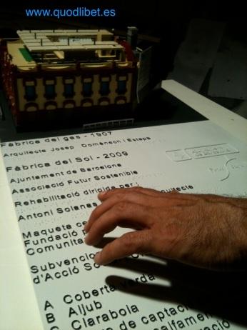 Maqueta tactil braille Fàbrica del Sol Barcelona 6
