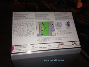 Panel tactil braille. Cementiri de Casetes. La Vila Joiosa