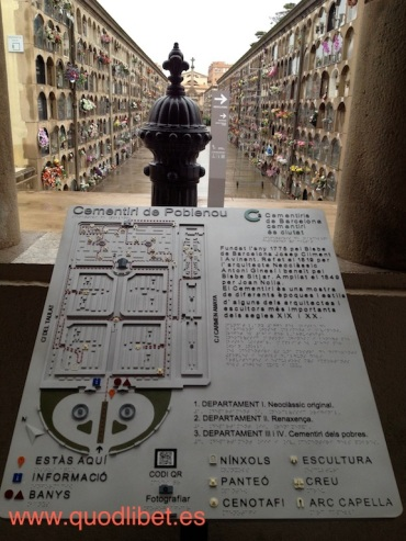 Plano 3d táctil braille cementiri de poblenou barcelona
