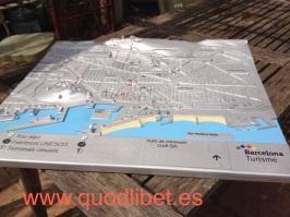 Plano 3d tactil braille Barcelona Turisme 4