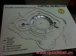 Plano 3d tactil braille Castillo de Bellver Palma de Mallorca