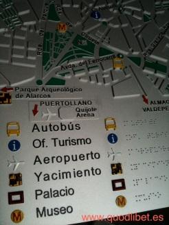 Plano 3d tactil braille Ciudad Real Castilla la Mancha 2