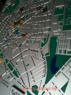 Plano 3d tactil braille Ciudad Real Castilla la Mancha 3