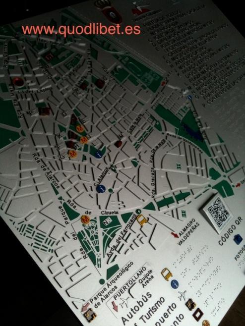 Plano 3d tactil braille Ciudad Real Castilla la Mancha 4