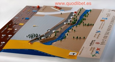 Plano 3d tactil braille Desenvocadura Riu Gaià 1