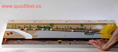Plano 3d tactil braille Desenvocadura Riu Gaià 4