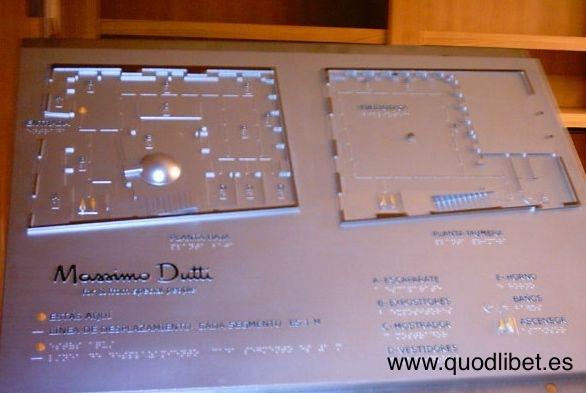 Plano 3d tactil braille Massimo dutti Allariz Pontevedra(2)