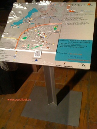 Plano 3d tactil braille Tablas de Daimiel Castilla la Mancha 1