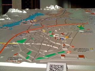 Plano 3d tactil braille Tablas de Daimiel Castilla la Mancha 2