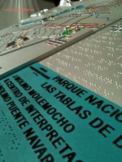 Plano 3d tactil braille Tablas de Daimiel Castilla la Mancha 9