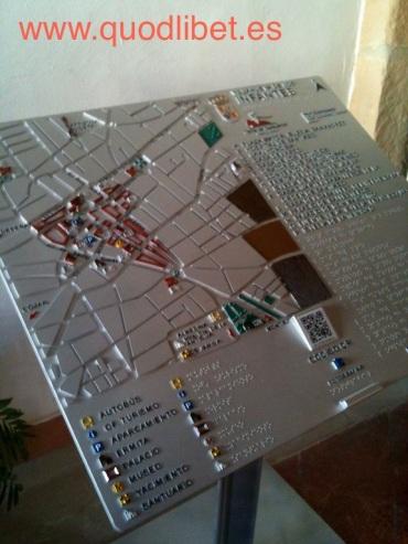 Plano 3d tactil braille Villanueva de los Infantes Castilla la Mancha 1