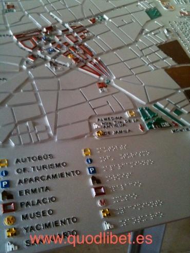 Plano 3d tactil braille Villanueva de los Infantes Castilla la Mancha 2