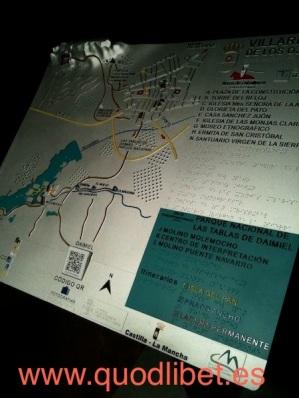 Plano 3d tactil braille Villarrubia de los Caballeros Castilla la Mancha 1