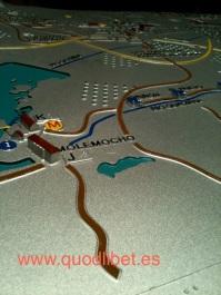 Plano 3d tactil braille Villarrubia de los Caballeros Castilla la Mancha 2