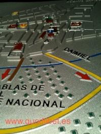 Plano 3d tactil braille Villarrubia de los Caballeros Castilla la Mancha 4