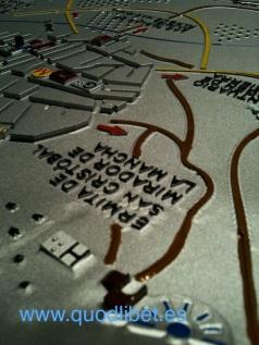 Plano 3d tactil braille Villarrubia de los Caballeros Castilla la Mancha 6