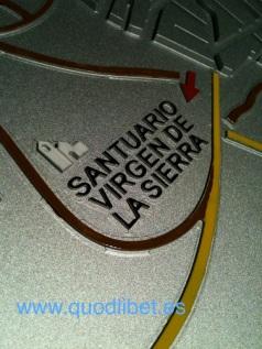Plano 3d tactil braille Villarrubia de los Caballeros Castilla la Mancha 7