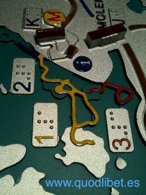 Plano 3d tactil braille Villarrubia de los Caballeros Castilla la Mancha 8