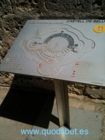 Plano tactil braille Bellver Castell Palma de Mallorca